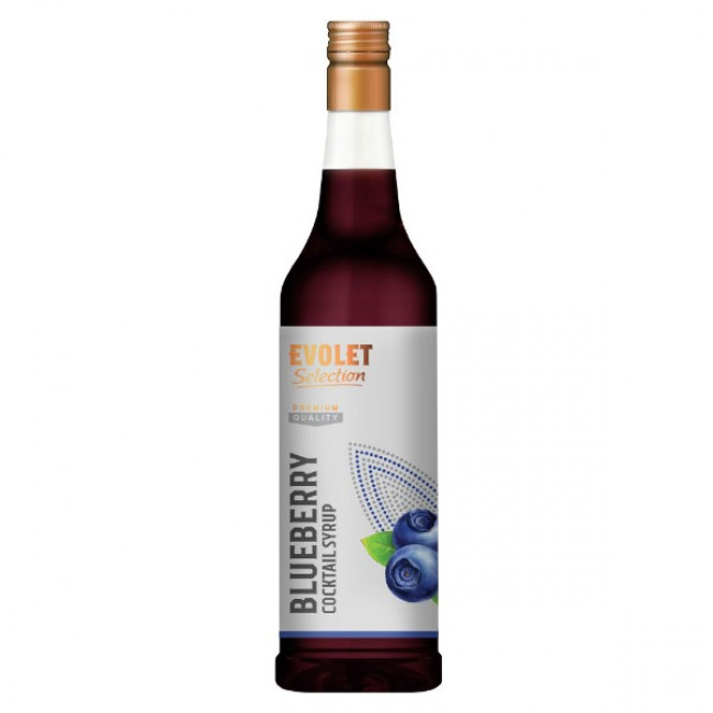 Sirop Cocktail Evolet Selection, Blueberry