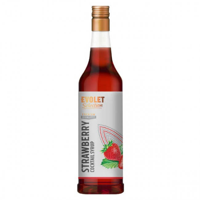 Sirop Cocktail Evolet Selection, Strawberry